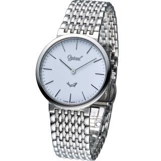 【Ogival 愛其華】薄型簡約紳士腕錶(385021M)