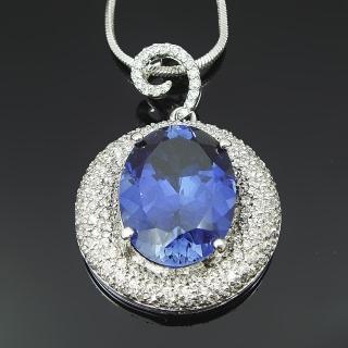 【Celosa珠寶】-藤之戀藍寶墜鍊