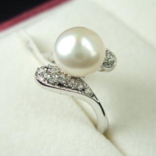 【小樂珠寶】頂級天然珍珠戒指(氣質脫俗款)