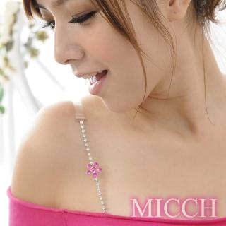 【MICCH】台灣製 櫻桃紅幸運花閃耀捷克鑽石肩帶