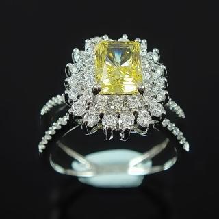 【Celosa名品-】相識彩黃晶鑽戒指