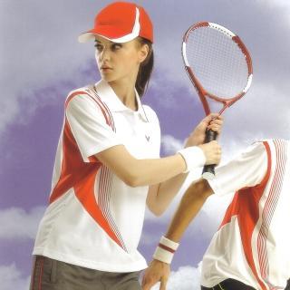 【日本Kawasaki】女版吸濕排汗短POLO衫(白紅#KW2207A)