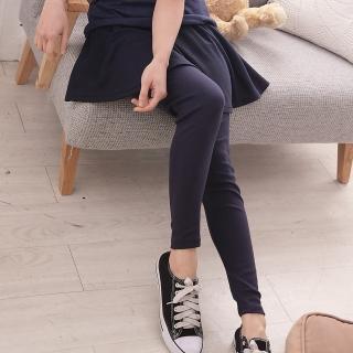【衣心衣意中大尺碼】穿搭必備-大圓裙假兩件內搭褲(黑色-藍色SH1A3149)
