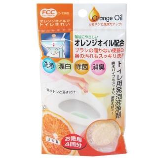 【日本製】橘子馬桶清潔碇-10g×4入-10包組
