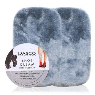 【足的美形】英國Dasco伯爵蜜腊鞋膏+鞋布組x2(透明)