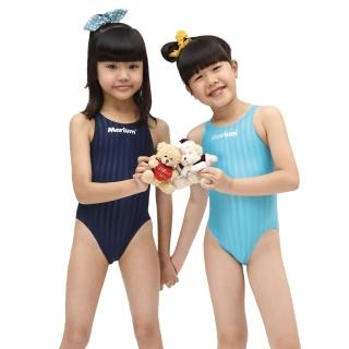 【≡MARIUM≡】小女競賽型泳裝─湖藍(MAR-8003WJ)