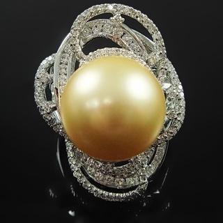 【蕾帝兒名品】神氣金色貝珠戒指