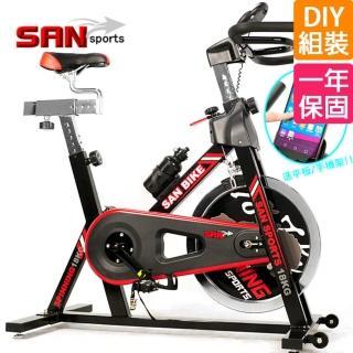 【SAN SPORTS】黑爵士18KG飛輪健身車(C165-018)