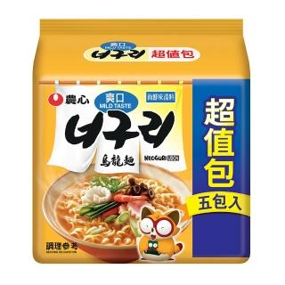 【NONG SHIM】農心爽口海鮮烏龍麵(120gx5入)