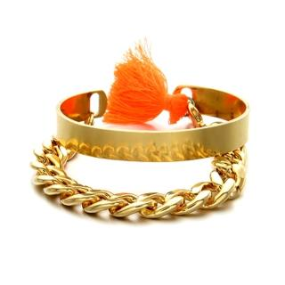 【Lady c.c.】韓系亮眼現代流行手環(橘)