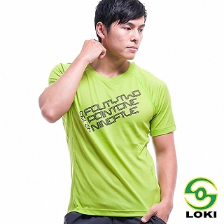 【LOKI】男 EXODRY圓領全程馬拉松專用排汗衣-C(暗香櫞綠)