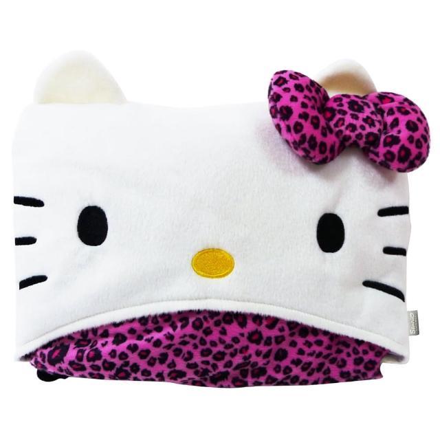 【享夢城堡】momo東森Hello Kitty 豹紋系列(車用披肩毯)
