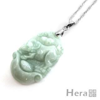 Hera頂級A貨翡翠項鍊-生肖牛