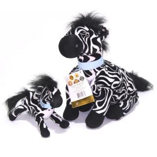 【Zoobies】三合一毛毯寵物玩偶(大小斑馬)