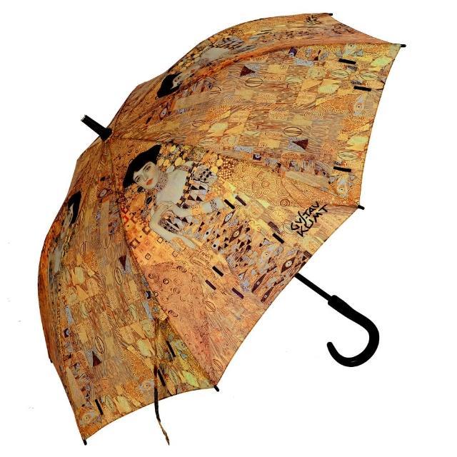 【勸敗】MOMO購物網【雨傘詩人】名畫藝術系列 抗風抗UV全玻璃纖維自動直傘(克林姆系列)推薦momo購物網 假貨
