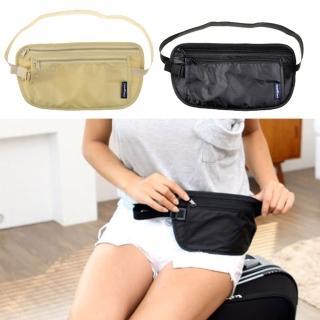 【iSPurple】旅行專用*透氣網狀小腰包/二色