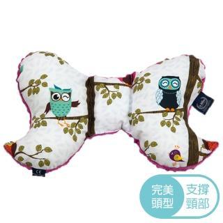【La Millou】天使枕(Anna Mucha設計師限量款-樹屋貓頭鷹-沁甜莓果紅)