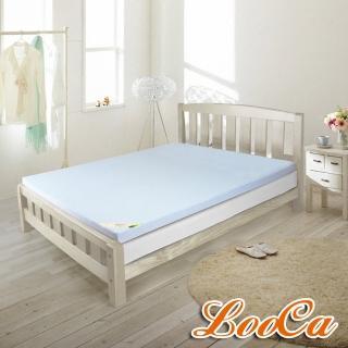 【快速到貨】LooCa吸濕排汗2.5cm天然乳膠床墊(單人3尺)