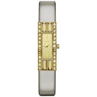 【DKNY】延展時尚晶鑽都會仕女腕錶(皮帶-鏡面金 NY2127)