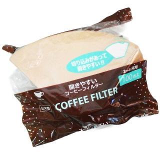 【日本製】咖啡濾紙-茶色-2-4杯用-100枚入(2-4人用)