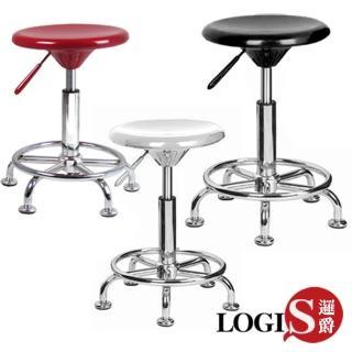 【LOGIS】畢尼費吧椅 / 工作椅(紅/白/黑)