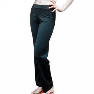 【MACPOLY 五折下殺】女舒適透氣涼感高彈力寬版運動休閒長褲(黑色S-2XL)