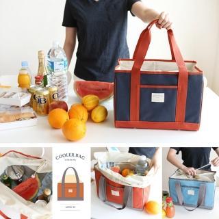 【韓國 invite.L】L號 保冷袋 保溫袋 保鮮袋 餐盒袋 便當袋 手提包 防潑水(繽紛六色)