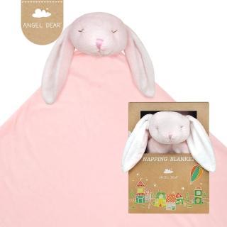 【美國 Angel Dear】大頭動物嬰兒毛毯(粉紅小兔)