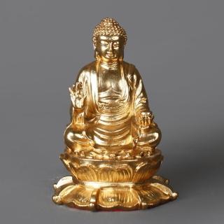 【MU LIFE 荒木雕塑藝品】FRP鍍銅金藥師佛