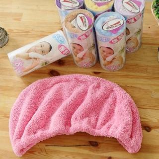 【米夢家居】台灣製造水乾乾SUMEASY開纖吸水紗-快乾護髮浴帽-粉(二入)