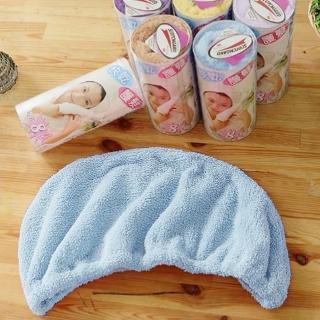 【米夢家居】台灣製造水乾乾SUMEASY開纖吸水紗-快乾護髮浴帽-藍(二入)