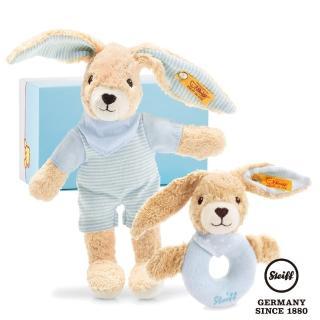 【STEIFF德國金耳釦泰迪熊】Hoppel Rabbit 歡樂組(BABY禮盒)