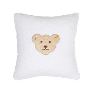【STEIFF德國金耳釦泰迪熊】嬰幼兒 枕頭 靠枕 白色(枕頭/被類)