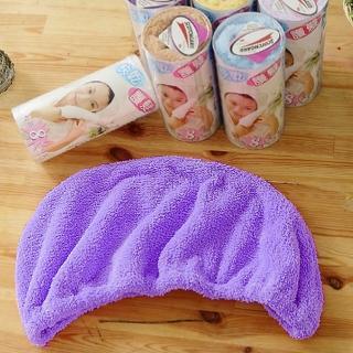 【米夢家居】台灣製造水乾乾SUMEASY開纖吸水紗-快乾護髮浴帽-粉+藍+紫(三入)
