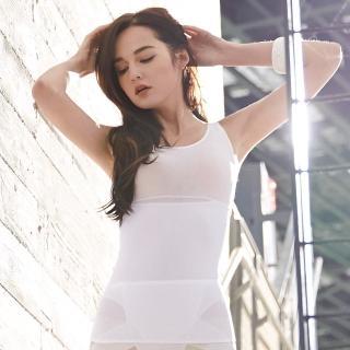 【曼黛瑪璉】羽涼級•輕鬆塑 中機能防胃凸背心(牙白)