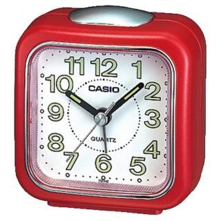 【CASIO 卡西歐】復古圓弧輕巧指針鬧鐘(紅-TQ-142-4DF)