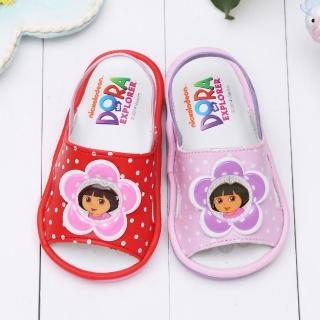 【童鞋城堡】朵拉小花瓣嗶嗶BB學步後帶涼鞋(DR3068)