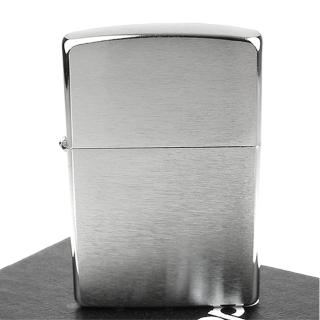 【ZIPPO】美系-拉絲打磨鍍鉻-銀色霧面打火機-寬版