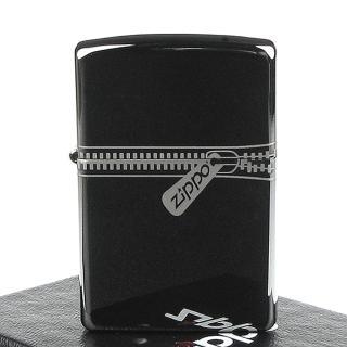 【ZIPPO】美系-超質感Black Ice Zipper-黑冰拉鍊打火機
