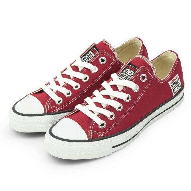 【好物分享】MOMO購物網【VISION STREET WEAR】男 經典帆布鞋(棗紅 V22009)推薦momo購買