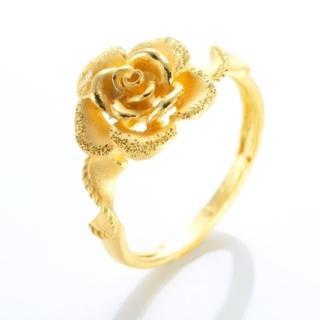 【D.M.】玫瑰心情黃金戒