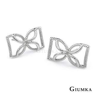 【GIUMKA】韓系寵愛蝴蝶結耳環 精鍍正白K韓劇相似款 一對價格 MF04027-3(銀色)