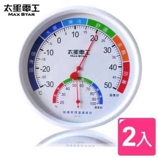 【太星電工】真安全健康管理溫濕度計(2入)