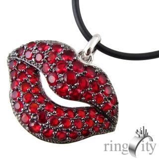 【RingCity】香唇造型墜鍊(紅色)