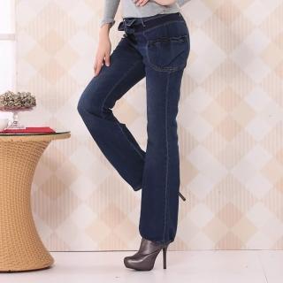 【RH】日系清甜花苞口袋牛仔褲(牛仔藍M到2XL全尺碼到貨)