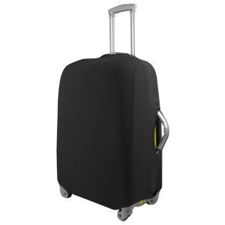 【PUSH! 旅遊用品】高雅黑行李箱 拉桿箱 登機箱 彈力保護套 防塵套 箱套 拖運套(22-26寸適用)