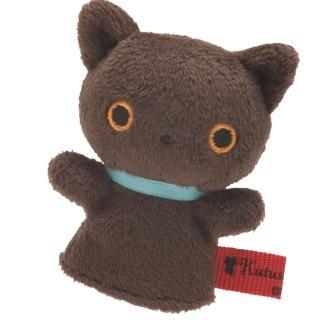 【San-X】San-X 小襪貓音樂幸運草系列毛絨指偶小公仔(小棕貓)