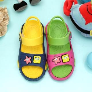 【童鞋城堡】海綿寶寶超輕量玩水性涼鞋(SG3337)