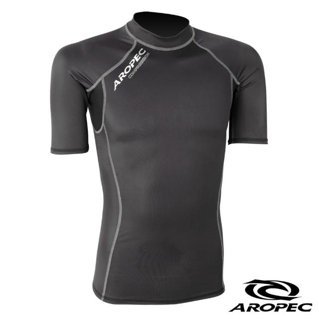 momo活動【AROPEC】機能型短袖壓力衣男款(黑)