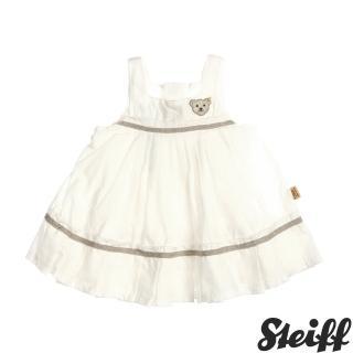 【STEIFF德國精品童裝】無袖 洋裝 連身裙 白(連身洋裝/褲)